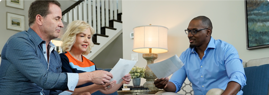 couple discussing loan types