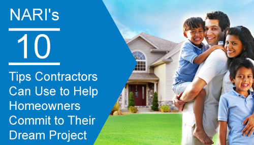help homeowners commit to dream project