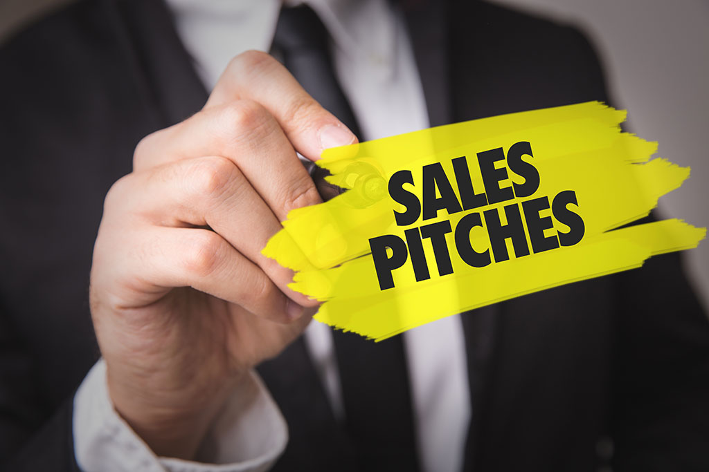 sales pitches photo