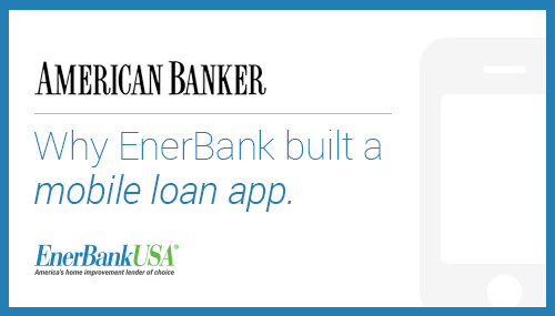 why enerbank built a mobile loan app
