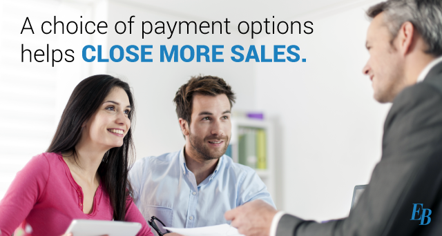 a choice of payment options helps close more sales